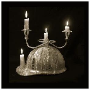 Miner's Hat, 2014, photo on brush aluminium. Edition of 3